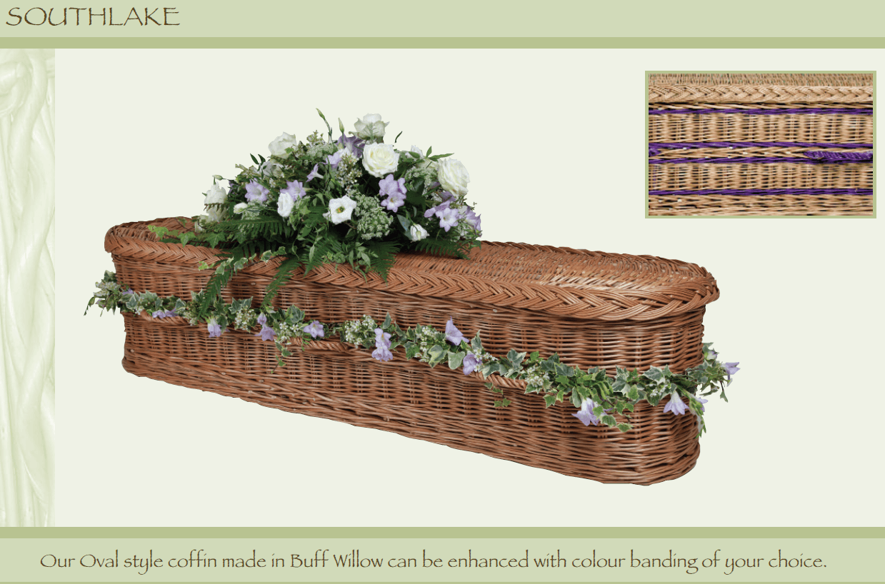 Southlake wicker coffin